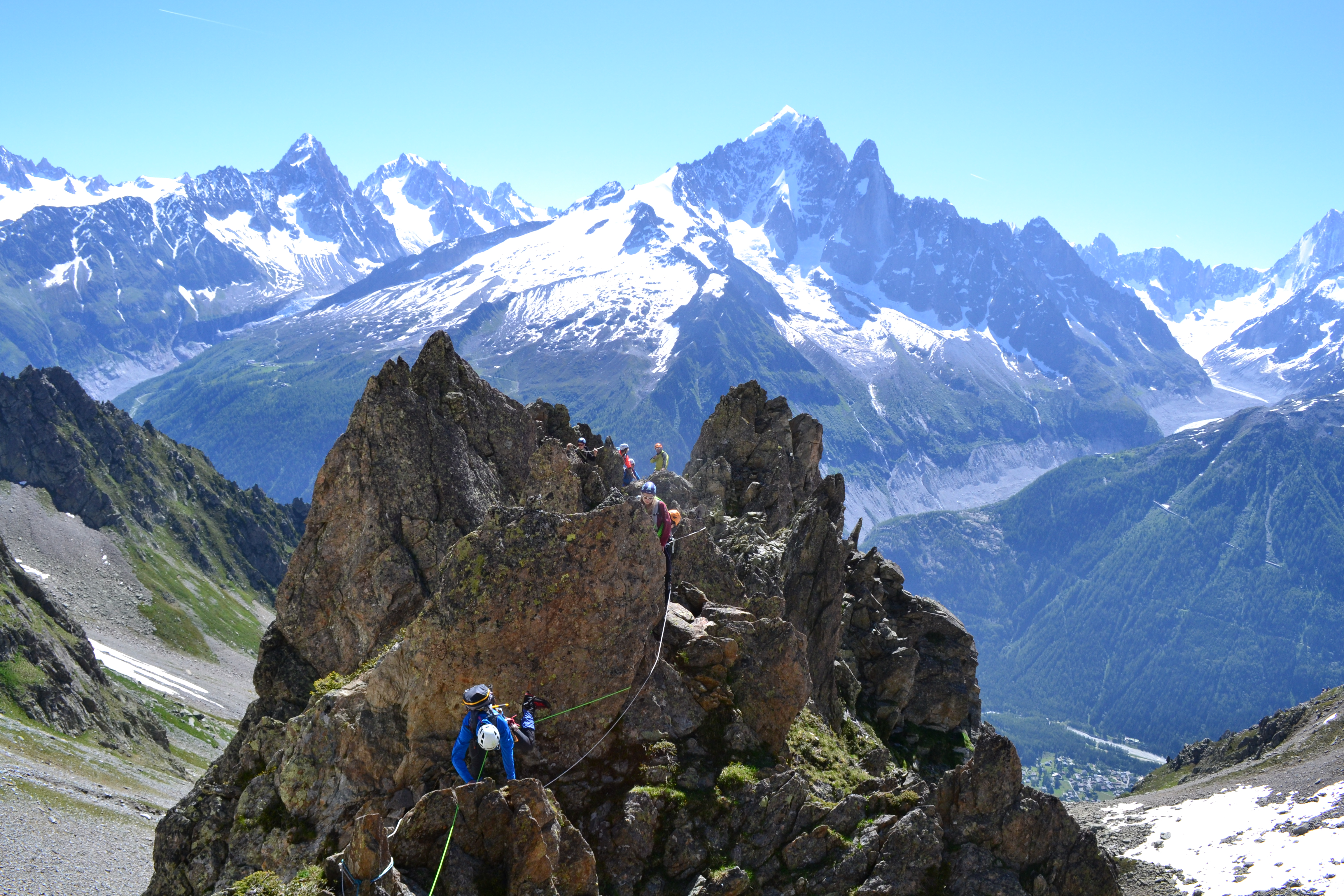 alpinisme Chamonix Index Grand parcours montagne corde aiguille rouge