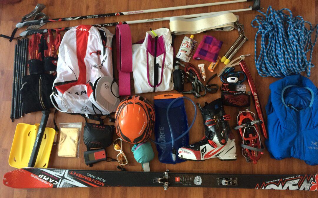 Un sac pour une compétition de ski-alpinisme
