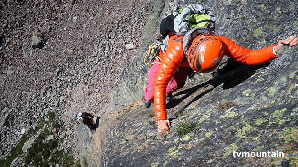 Alpinisme à l'Aiguille de Praz Torrent