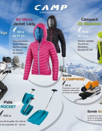 CAMP ski de rando - Publicité