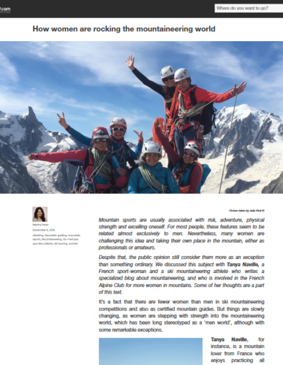 Article Explore and Share - Alpinsime au féminin