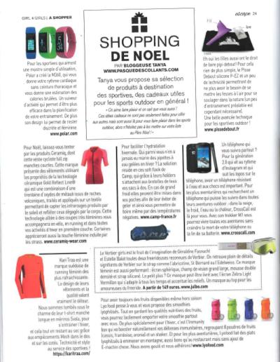 Article Magazine ESCAPE - Noël shopping
