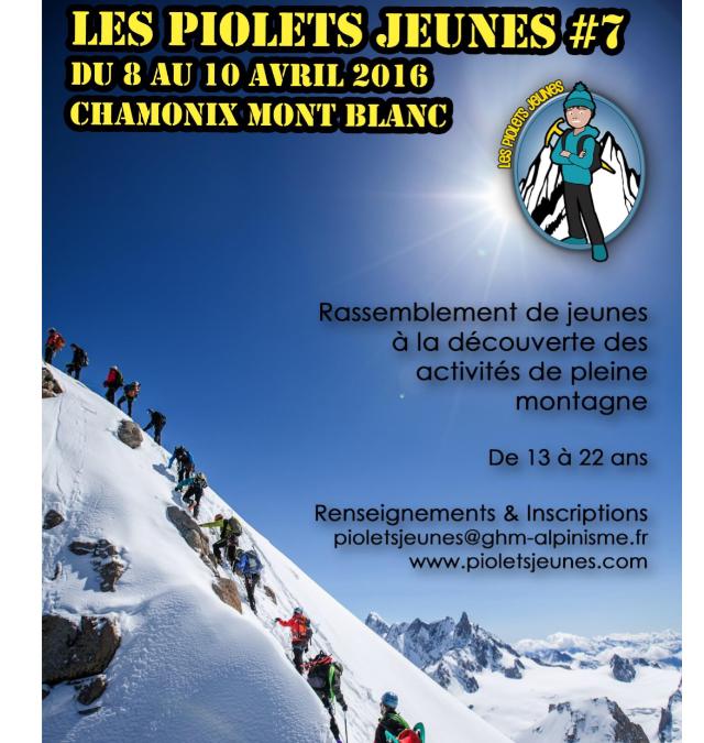 Les piolets jeunes 2016, faire découvrir la montagne aux jeunes générations.