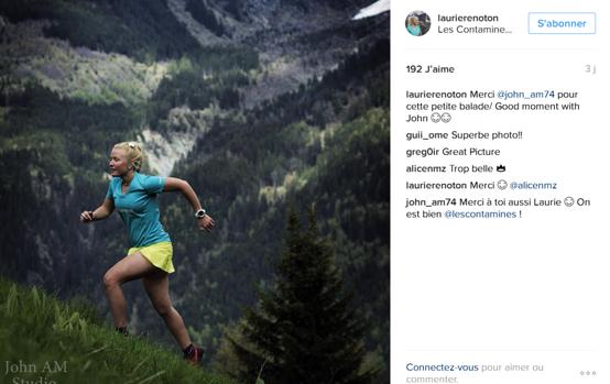 Laurie RENOTON - top10 des comptes instagram de traileuses / http://pasquedescollant.com Trail au féminin