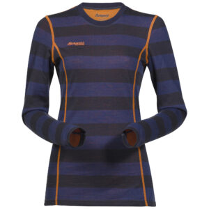 bergans-baselayer-akeleie-shirt-nightbluestriped-pumpkin