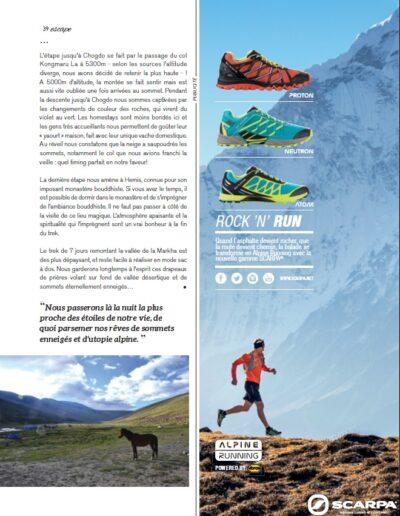Article Magazine ESCAPE n°61 printemps 2016