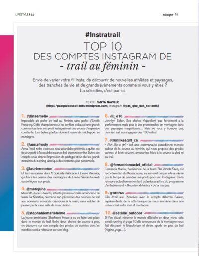 Article Magazine ESCAPE n°62 été 2016