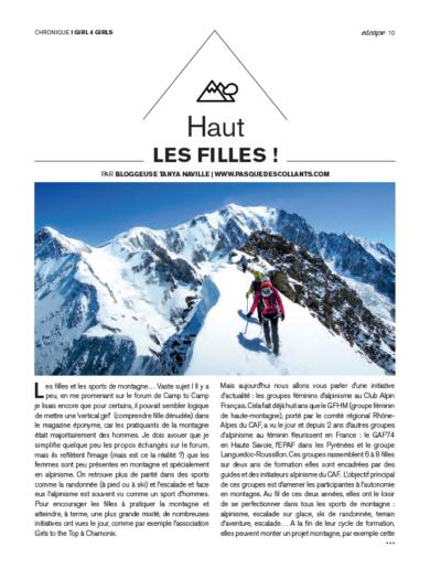 Article Magazine ESCAPE n°63 octobre 2016