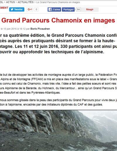 Article Montagnes Magazine - Le grand parcours Chamonix