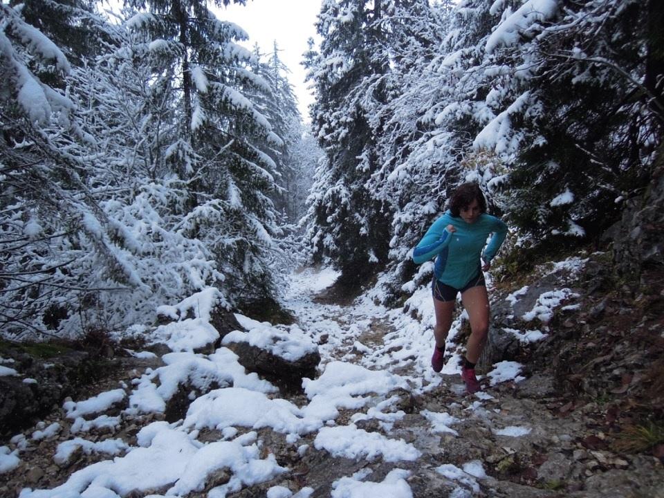 course en hiver dnas la neige