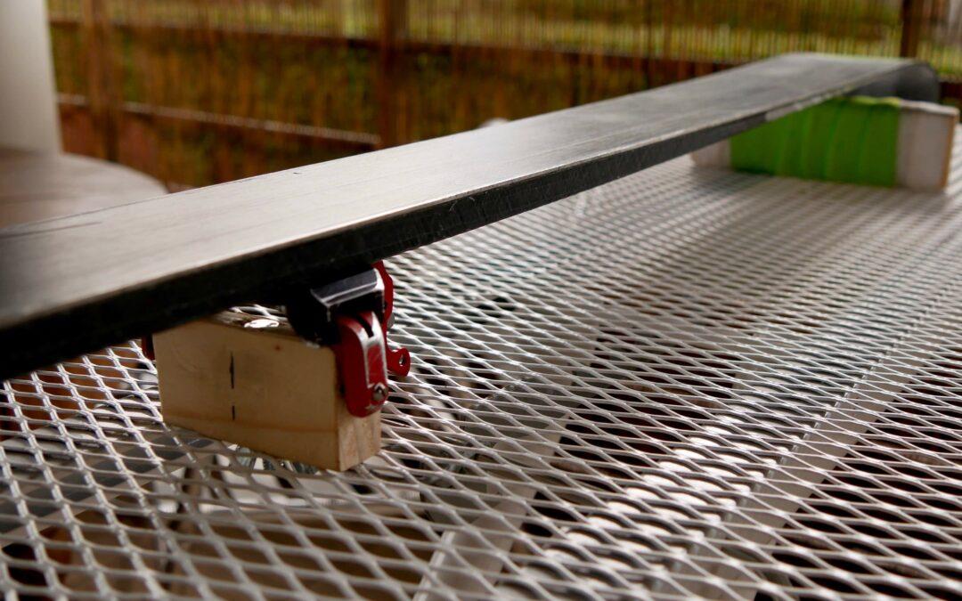 DIY – Table de fartage pour skis homemade