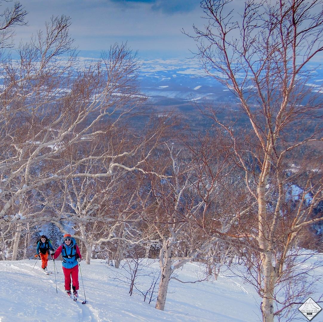 ski de rando a furano hokkaido japon