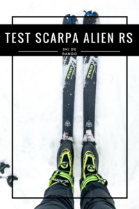 test chaussures scarpa alien RS ski de rando