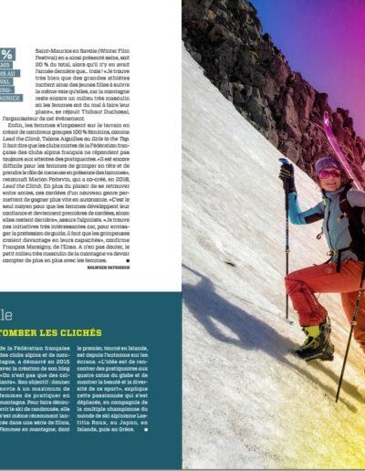 Article Magazine Géo Aventure - Tanya Naville