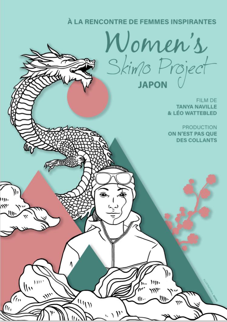 affiche women s skimo project WSP - Japon