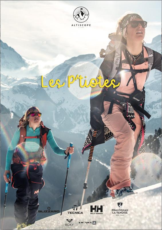 affiche film les ptiotes ski féminin pralognan la vanoise
