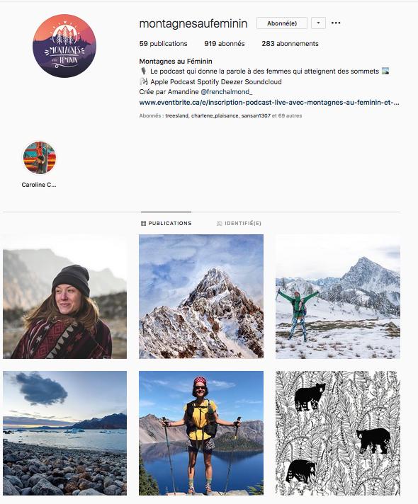 Instagram podcast Montagnes au féminin femmes inspirantes outdoor montagne aventure