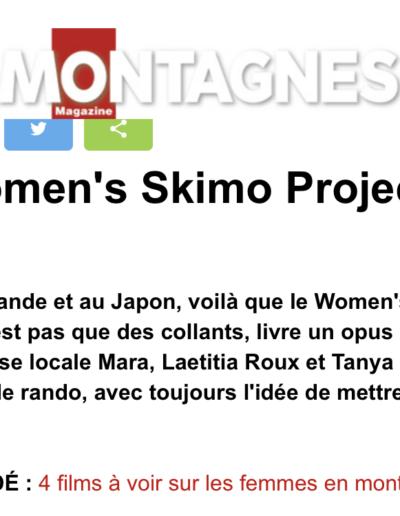 Article Montagnes Magazine - Teaser Women's skimo project