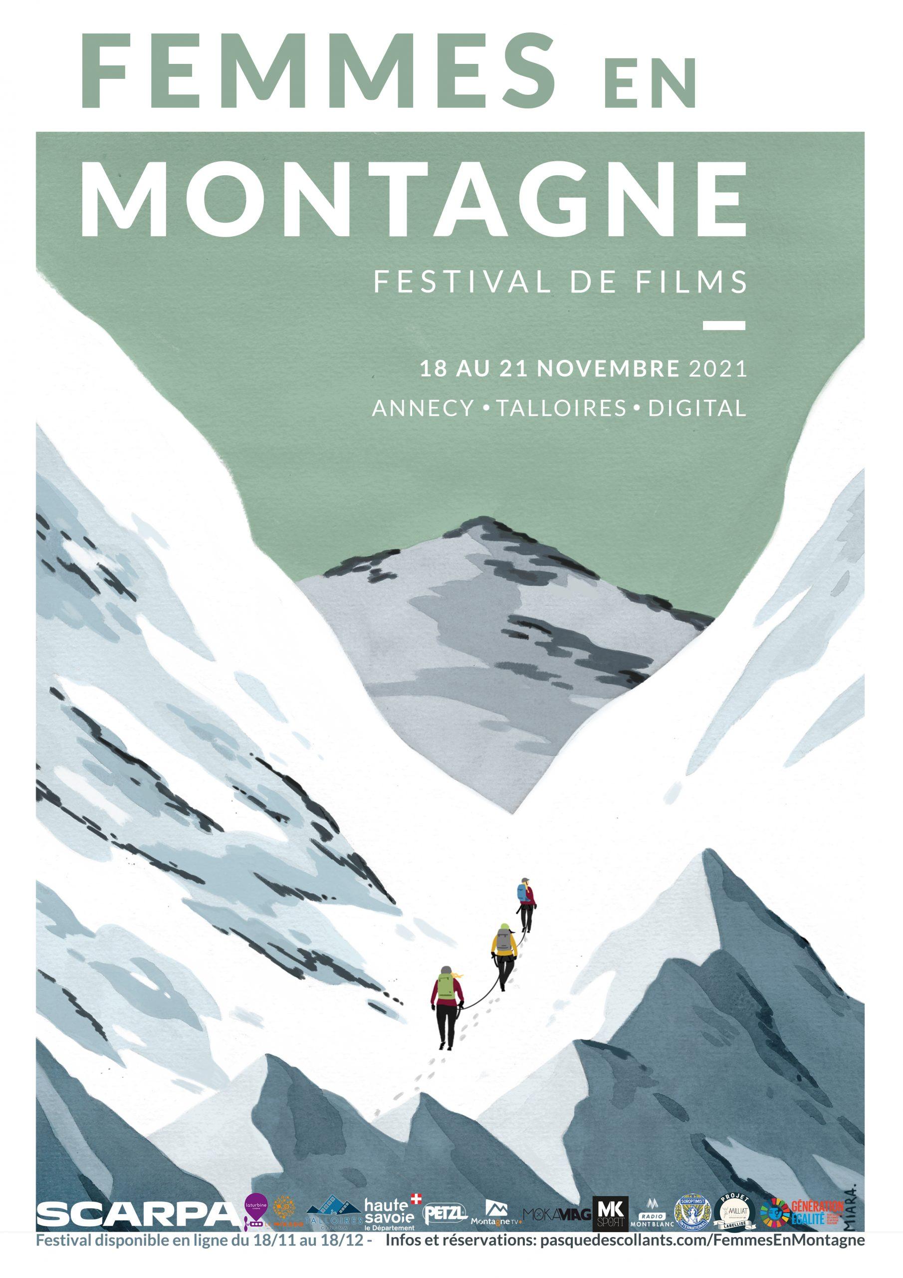 Affiche festival films femmes en montagne 2021 Annecy et Talloires